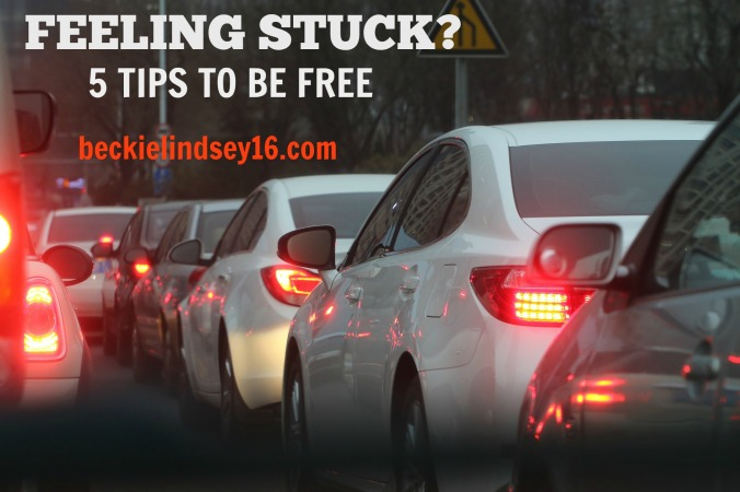 FEELING STUCK? 5 TIPS TO BE FREE https://beckielindsey16.com/2017/01/31/feeling-stuck-5-tips-to-be-free/