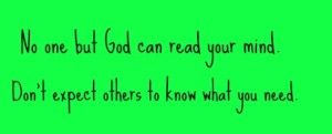 No one but God can read your mind