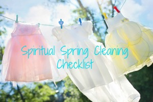Spiritual Spring Cleaning Cleaning Checklist meme