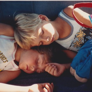 April and brother sleeping chidren resize