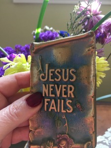 Jesus Never Fails plaque